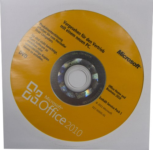 Microsoft Office 2010 Home and Business 32/64 Bit, OEM mit Datenträger, Deutsch (Microsoft 64-bit 2010 Office)