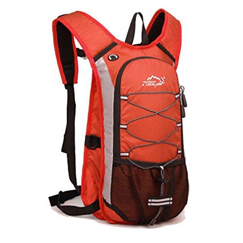 Cuckoo Im Freien Wandern Klettern Rucksack Freizeit Ultraleichte Wasserdichte Outdoor Wanderrucksäcke Radfahren Reiten Reisetaschen, 45 x 25 x 15 cm, 15 Liter Orange