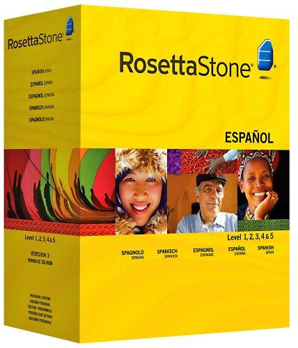 Rosetta Stone Version 3: Spanisch (Spanien) Stufe 1,2,3,4&5 Set Persönliche Edition inkl....