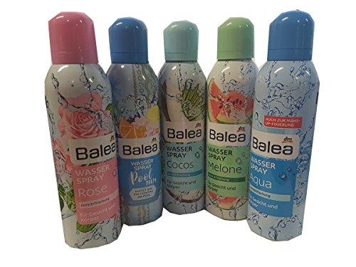 Balea Wasserspray für Gesicht und Körper 5 x 150ml Sprayflasche Rose/PoolParty/Melone/Cocos/Aqua gemischt Sammlung