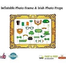Deluxe giorno di San Patrizio–Saint Patty irlandese photo booth puntelli gonfiabile con cornice portafoto da Lizzy