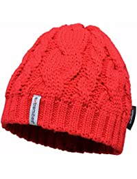 Extremities Pyrenees Unisex Thermal Knitted Beanie Hats One Size Red