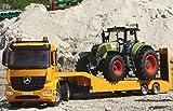WIM-SHOP 2-STÜCK RC Tieflader LKW Mercedes + XL Traktor Claas Ferngesteuert