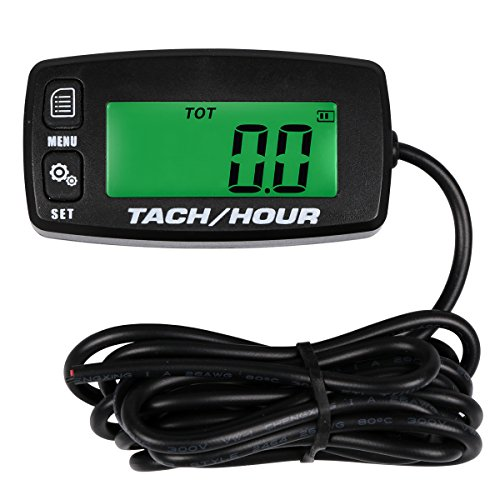 SEARON Backlit Digital Tach Hour Meter Tachometer for Small Engine Boat Generator Lawn Mower Motorcycle Motocross ATV Snowmobile UTV Test