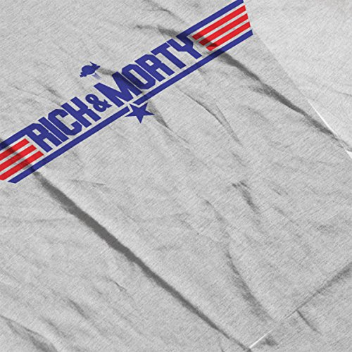 Rick And Morty Top Gun Logo Women's Vest Heather Grey