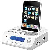 Sangean MMC-96I W Station d'accueil avec Télécommande pour lecteur MP3/iPod Blanc