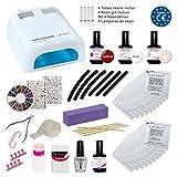 Kit Meanail DELUXE XXL per NAIL ART professionale ULTRA COMPLETO!! Lampada con timer + 28 accessori professionali per realizzare la vostra manicure con risultati professionali! Marchio CE