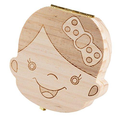 (5 Stili da Scegliere) Scatola dei Ricordi per Denti da Latte Scatolina Denti Decidui Scatoletta Porta Dentini Regalo Neonato Bambini