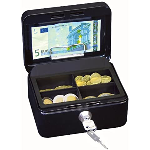 Wedo 145121H Gr. 1 Cassetta Portavalori con Clip, 15.2 x 11.5 x 8.0 cm, Nero