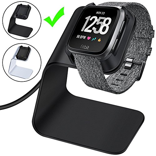 CAVN Ladegerät Kompatibel mit Fitbit Versa/Versa Lite Ladekabel, 4.2ft Premium Aluminium Ladekabel Dock Zubehör Ladestation Adapter Stand Station Ladekabel für Versa/Versa Lite Edition