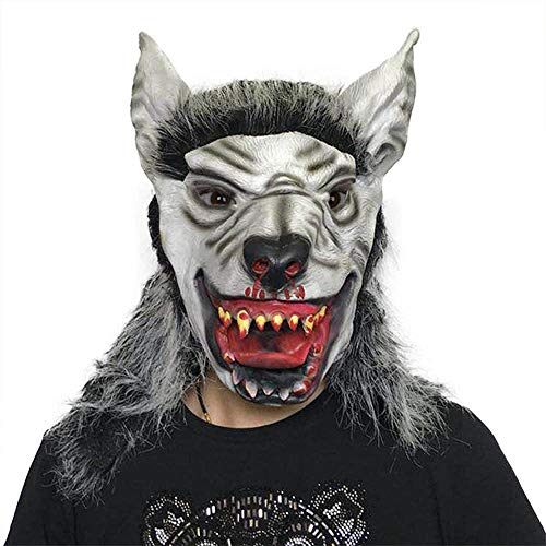Krieg Wolf Kostüm - XiangYu Halloween Maske Latex Wolf Kopf Maske Cosplay Vollgesichtsmaske Prom Dress Up Requisiten Wolf