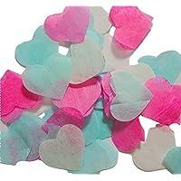 Herzform Konfetti Hochzeit Geburtstag Konfetti, für Hand Craft Blau Türkisblau Weiße Rosa (handgemacht Konfetti)