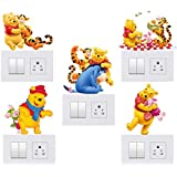 DreamKraft Decorative Kids Room Switch Board Wall Sticker- Set of 5