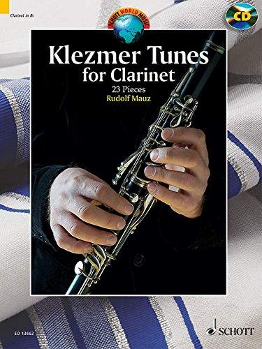 Klezmer Tunes for Clarinet - 24 Pieces - Schott World Music Series - Clarinet and piano - edition with CD - ( ED 13662 ) par Rudolf Mauz