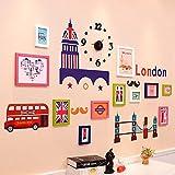 CQSMOO Mauer Skulptur Foto Wand, Massivholz europäischen Stil Foto Wand Kinder Schlafzimmer Wohnzimmer Bilderrahmen Kombination by (Farbe : Multi-Color)