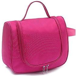 EvanaTM Toiletry Kit Travel Cosmetic Organizer Unisex Toiletry Bag Kit (Baby Pink)