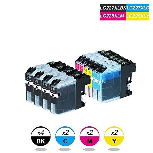 DOREE 10-Pack Brother LC227XL / LC225XL Tintenpatronen kompatibel für Brother DCP-J4120DW MFC-J4420DW/J4620DW/4625DW -