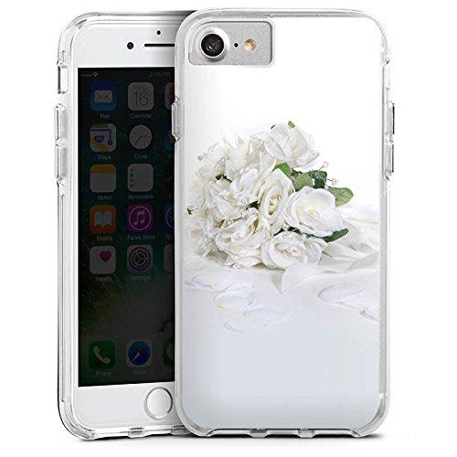 Apple iPhone 6s Bumper Hülle Bumper Case Glitzer Hülle Rosenstrauss Hochzeitsstrauss Rosenblaetter Bumper Case transparent