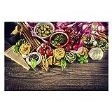 Vliestapete Küchentapeten Pasta - Fototapete Breit Vlies Tapete NEU Wandtapete Wandbild Foto 3D Fototapete, Größe HxB: 255cm x 384cm