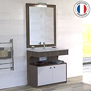 Meuble simple vasque PMR ALTÉA vienna - 80 cm