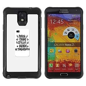 Mou TPU Gel Housse Étui de Protection pour Samsung Note 3 / notebook writing poster school text / STRONG