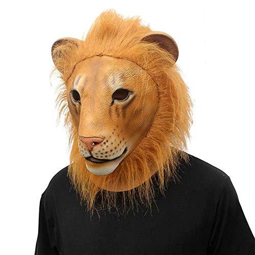Littlefairy Maske,Halloween Horror Maske Crazy Tier Stadt Löwen Perücke Latex Maske