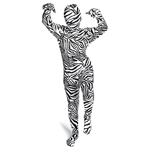 2nd Skin Morphsuit Kids Zebra Costume Skinz Fancy Dress