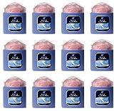 12x Bocaux avec couette Talc Parfum classique fougère bleue poudre fraîche