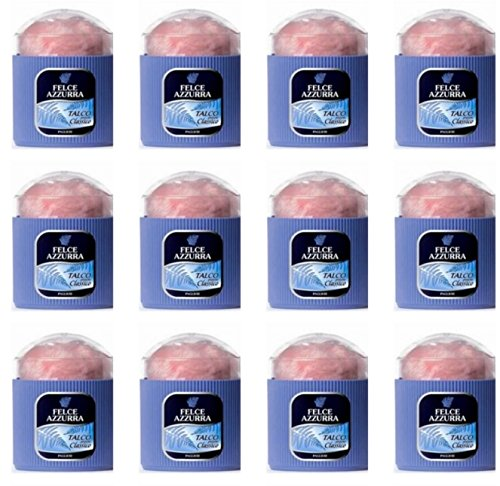 12 x Bocaux avec couette Talc Parfum classique fougère bleue poudre fraîche