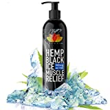 Hemp Black Ice 500mg Active Muscle Relief Lotion | 100% Natural Formula to Help Alleviate, Recover & Heal Muscles, 200ml