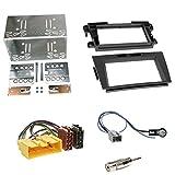 Einbauset : Autoradio Doppel-DIN 2-DIN Blende Einbaurahmen Radioblende schwarz + ISO Radio Adapter Kabel Adapterkabel + Antennenadapter für Mazda CX-7 (ER Facelift) 10/2009 - 2013