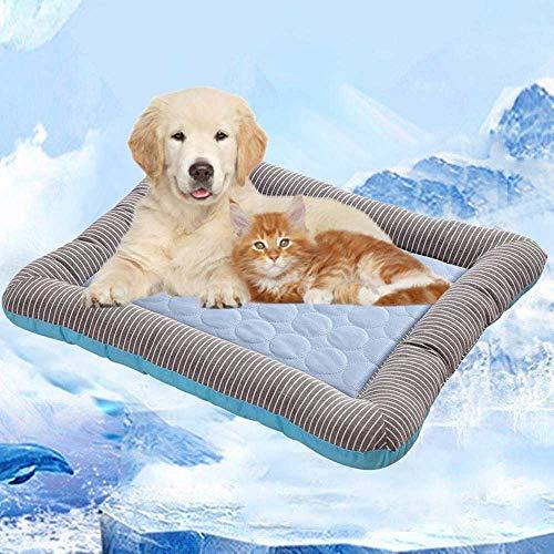 """Kühlkissen für Haustiere,Volwco Selbstkühlende Matte, Kühlgel, Gel-Haustierbett für Hunde, Welpen, Katzen, Schlafen und reduziert Gelenkschmerzen, ideal für Zuhause und Reisen (31 \""""x 20\"""")"""