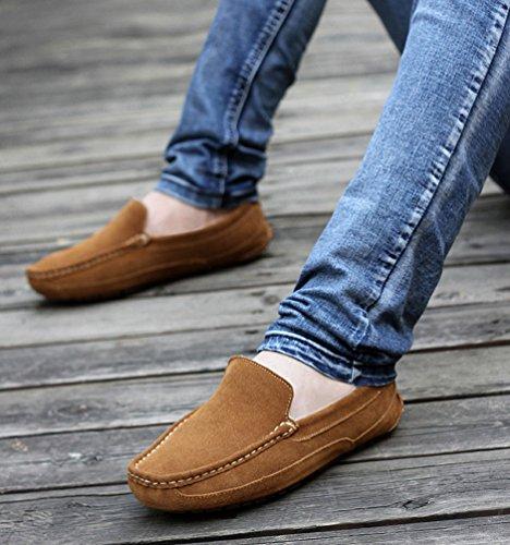 YiJee Unisexe Conduite Loafers Chaude Chaussures Désinvolte Chaussures Bateau Marron