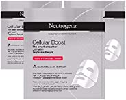 Neutrogena Face Mask Sheet, Cellular Boost, The Smart Smoother, 30ml, Pack fo 3