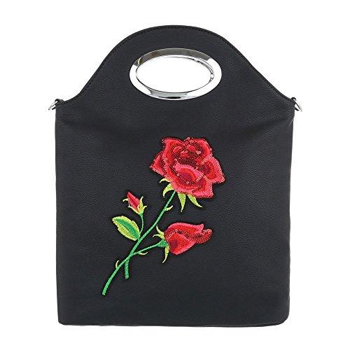 Taschen Schultertasche Schwarz