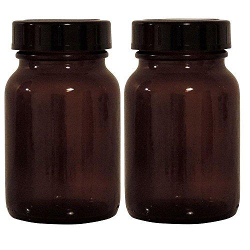 Viva-Haushaltswaren braunes Apothekerglas Set 2x 250ml inkl. Schraubverschluss & Etiketten made in - Jahr-etiketten