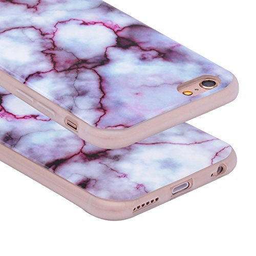 iPhone SE Natürlich Handyhülle,iPhone SE Silikon Cover, Asnlove Elegante TPU Weiche Schutzhülle Marmor Kreativ Muster Tasche Motiv Muster Etui Backcover Soft Case Hülle für Apple iPhone SE 5S 5 - Marb Farbe - 2