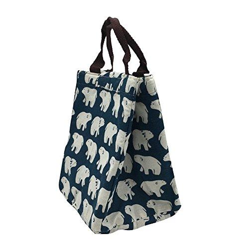 Lunch Bags Cooler Tragetasche Oxford Stoff isoliert Lunchbox Tragetasche wiederverwendbar für Frauen Arbeit / Reisen / Schule / Babynahrung Kid Fashionable Lovely Animal (Kleinkind, Isolierte Lunch-box)