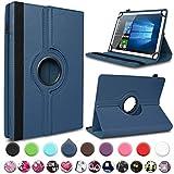 UC-Express Schutzhülle kompatibel für Acepad A121 A140 A101 Tablet Hülle Tasche Case Schutz Cover 360° Drehbar Etui, Farben:Blau
