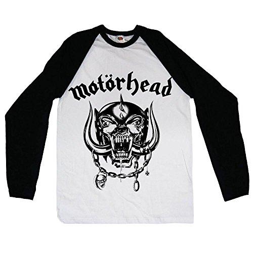 Motorhead England - Camiseta manga corta para hombre, color blanco, talla XL