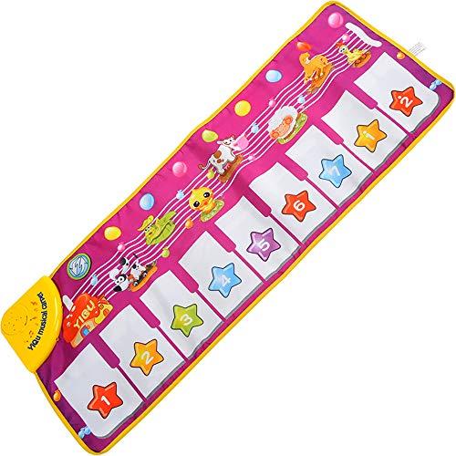 Shanyaid Touch Spielteppich Klaviermatte Musical Teppich Baby Musical Piano Matte Musikinstrument Spielzeug Baby Tanzmatte für Kinder