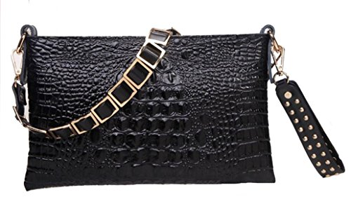 Mme Leather Clutch Black