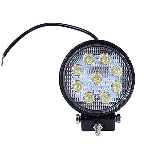 10x27 W Runde LED Lampe square Scheinwerfer kaltweiß Spot IP67 Arbeitsscheinwerfer (10)