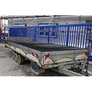 Abdecknetz 2,5m x 4m Transportnetz für Anhänger zur Ladungssicherung in schwarz