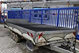 Abdecknetz 2,5m x 3m Transportnetz für Anhänger zur Ladungssicherung in schwarz