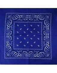 Bandana avec Motif Paisley bleu royale