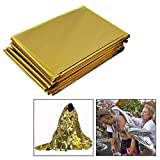 OFKPO 10 Stück Rettungsdecke/Rettungsfolie,Emergency Blanket Erste Hilfe Decke(Gold/Silber)