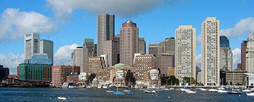 hansepuzzle 31154 Panorama-Puzzle: Boston, 2000 Teile in hochwertiger Kartonbox, Puzzle-Teile in wiederverschliessbarem Beutel
