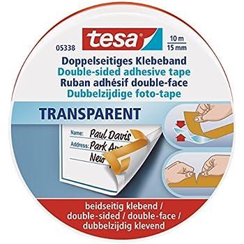 Tesa 05338-00000-01 Ruban adhésif Double-face 10 m:15 mm Transparent