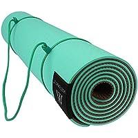 Goture Non Slip Mat TPE Yoga con la cinghia, Tappetino Yoga sport all'aperto palestra Mat